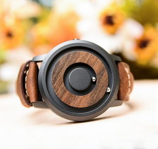 Stylish Cosmos Magnetic Wooden Watch Allows You to See and Feel The Time