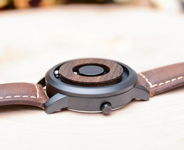 Cosmos Minimalist Wood Dial Scaleless Magnetic Wooden Watch