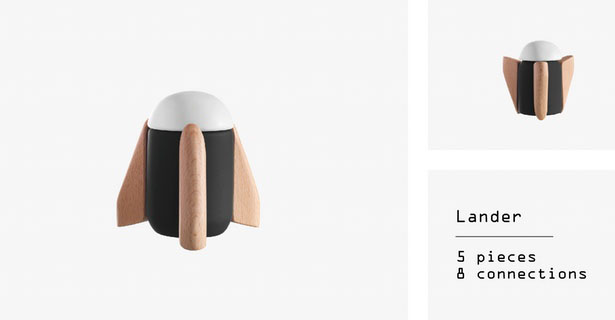 COSMOS - Timeless, Magnetic, Wooden Toys by Huzi Design