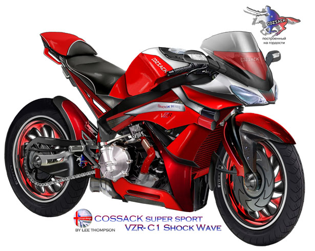 COSSACK VZR-C1 ShockWave Motorcycle by Lee Thompson