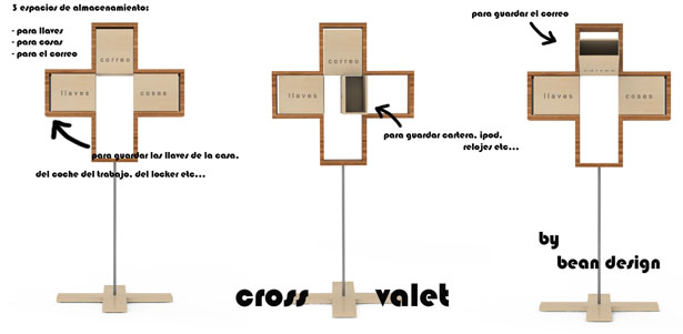 """Organize Your Stuff in Modern and Minimalist """"Cross Valet"""""""