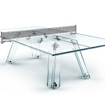 Lungolinea Crystal Ping Pong Table by Adriano Design