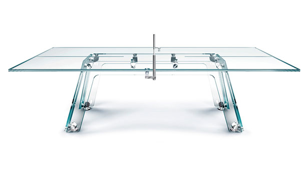 Lungolinea Crystal Ping Pong Table by Adriano Design for Calma e Gesso
