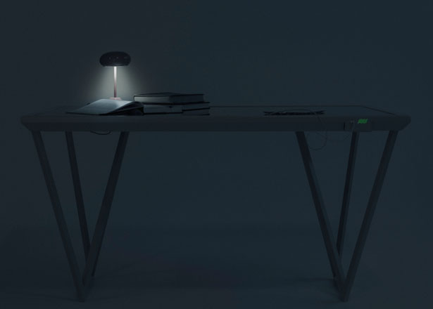 Current Table Features Dye Synthesized Solar Cell on Its Surface