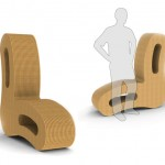 Curvate Cardboard Chair by Mark Schnitzer