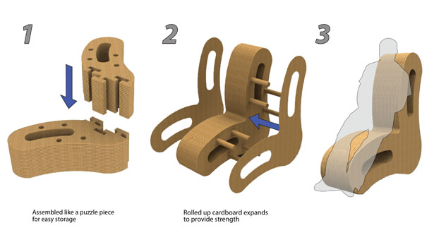 cardboard furniture design. cardboard chairs design furniture