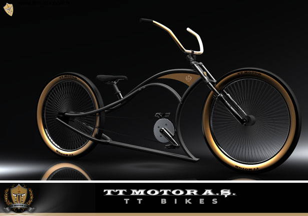 Custom Cruiser Bicycle Lowrider Bike Design by Olcay Tuncay Karabulut