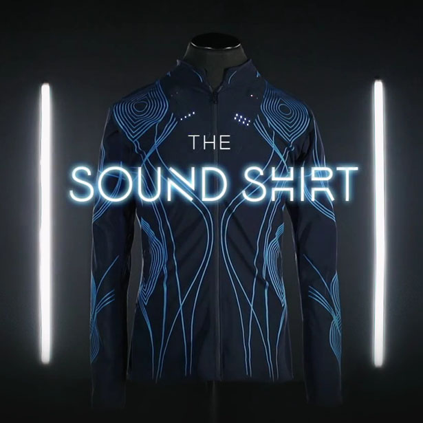 The Sound Shirt for The Deaf or Hearing Impaired by CuteCircuit