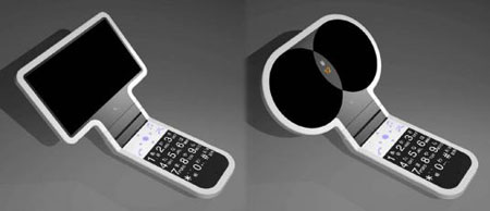 cuusoo detachable screen cell phone concept