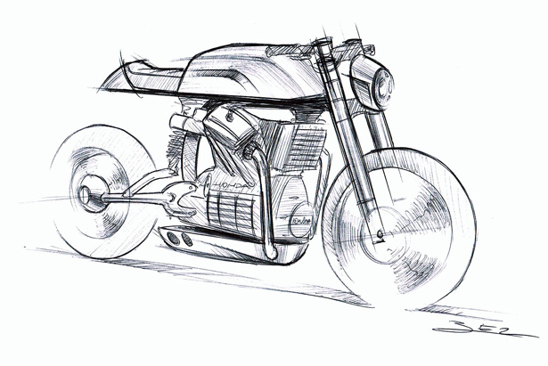CX500 Motorcycle by Dimitri Bez