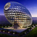 Futuristic Cybertecture Egg, Architecture with High-Tech Solutions