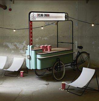 Cycling Cinema Concept Transforms Any Location into an Open-Air Cinema