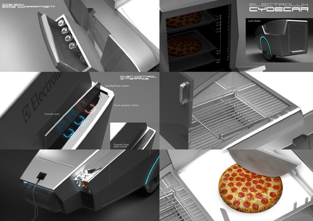 """Cydecar : Future Pizza Kiosk Delivers Your Pizza To Your Doorstep and Literally """"Fresh From The Oven"""""""