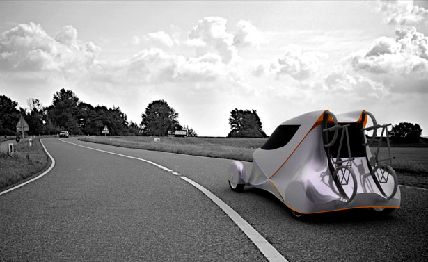 Cygo Electric Car Concept With Built-In 2-Bike Trunk Mount Rack