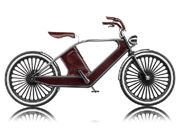 Cykno Electric Bike Upholstered With Fine Leather by Luca Scopel