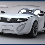 Dacia SHIFT Two Seater Concept Car with Transparent Removable Roof