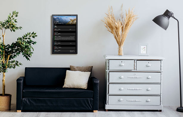 DAKBOARD Wall Display v2 Plus - Digital Board to Organize Your Daily Schedule
