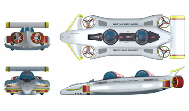 DeepFlight Dragon Persoal Electric Submarine