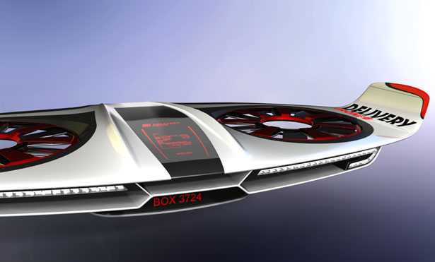 Delivery Drone Concept by Alfred Urleb