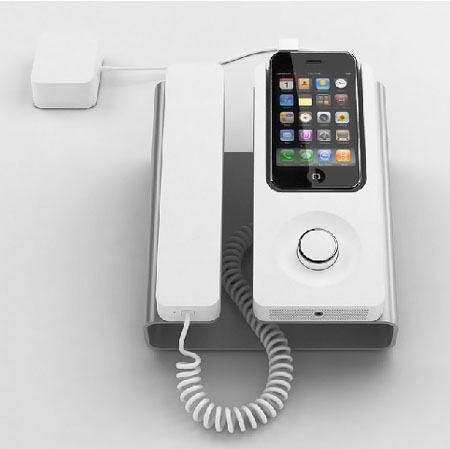 Stylish Desk desk phone dock ensures smarter use of iphonefeaturing stylish