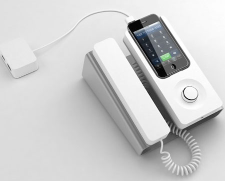 Desk Phone Dock Ensures Smarter Use Of IPhone By Featuring Stylish
