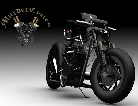 Devil Bike Concept Motorcycle with V-Twin Engine