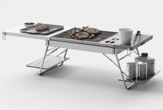 Shelf Portable Table and Camping Grill Concept Study for DHL