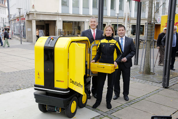 DHL Deutsche Post Launched PostBOT Self-Propelled Electric Robot