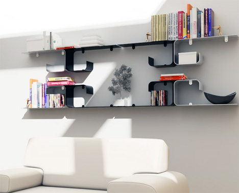 futuristic shelves