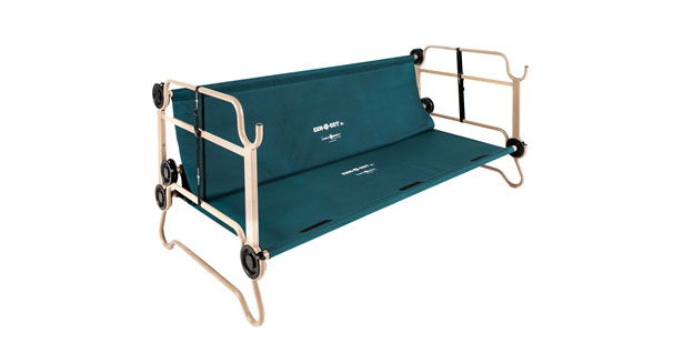 Disc-O-Bed Cam-O-Bunk Cot with Organizers and Leg Extensions