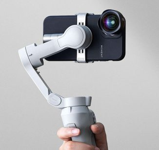 Folding DJI OM 4 Smartphone Stabilizer with Quick-Snap Magnetic Phone Attachment System