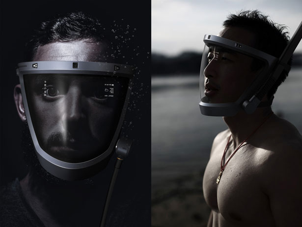 D-Mask: Digital Smart Snorkling Mask Concept by ZJ DDG