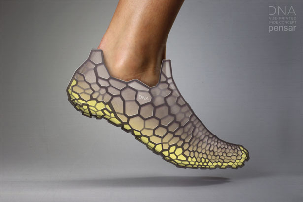 DNA 3D Printed Shoe System by Pensar Development