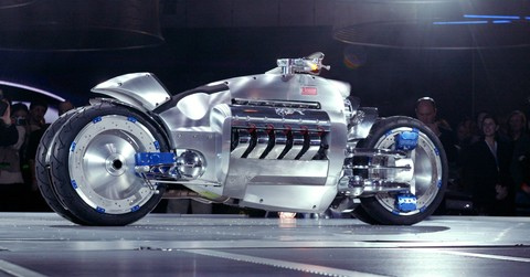 futuristic dodge tomahawk motorcycle