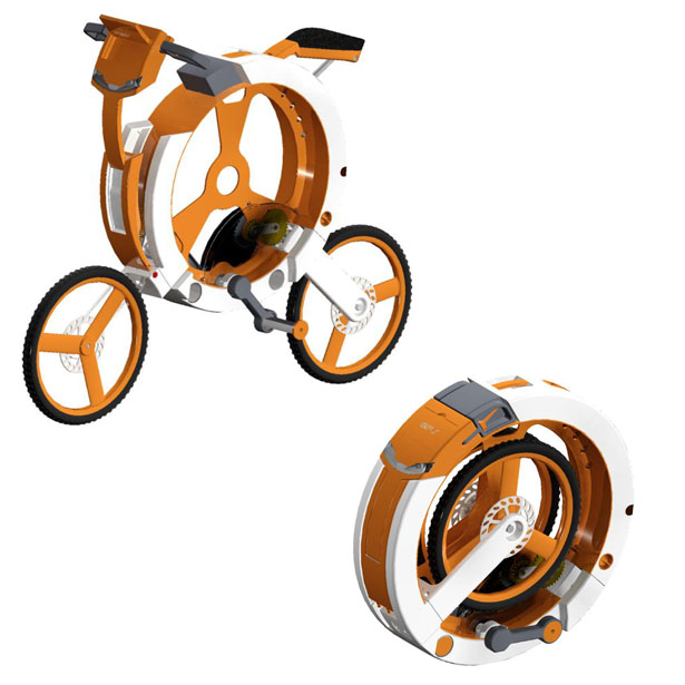 Donut Folding Bicycle by Arvind Mahabaleshwara