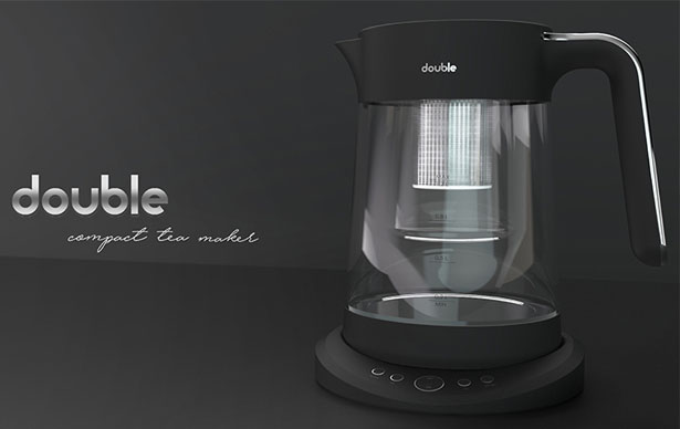 Double Compact Tea Maker by Aybike Eser