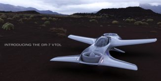 DR-7 VTOL Aircraft : Future Personal Air Mobility with a Fighter-jet Style Tandem Seating Arrangement