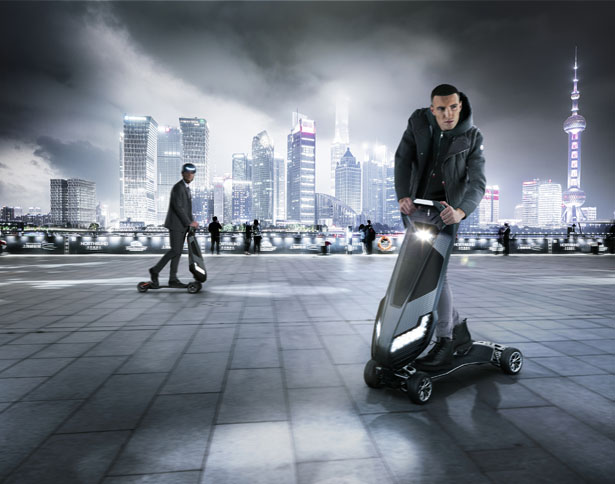 Dragon Fly Electric Hyperscooter for Future Personal Mobility by D-Fly