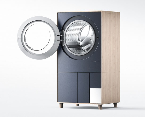 Drawsher - Washing Machine and Dehumidifier in One by Kikang Kim