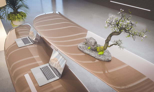 Drevva Reception Desk by Nuvist