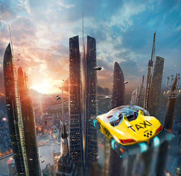 Futuristic Drone Taxi by HoverSurf