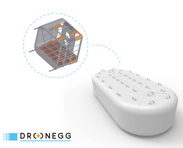Dronegg First Aid System Using Drones by Gayoung Lee, Gherardo Martin, Luca Macrì, and Davide Modanese