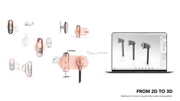 DROP I Shower Tap Concept by Pascal Grangier
