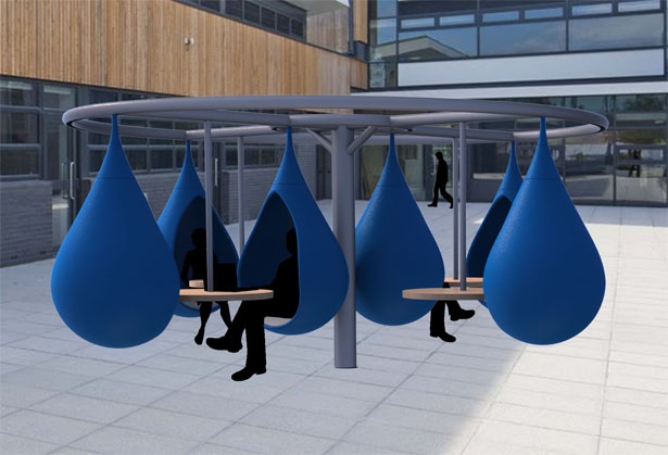 Droplet Outdoor Communal Workspace by Nick Chubb