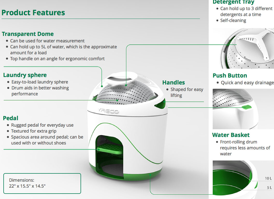 Drumi Pedal Powered Washing Machine By Yirego Tuvie
