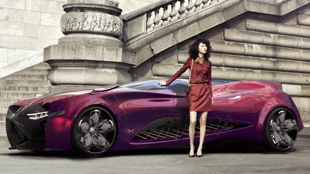 ds luxe autre concept car was inspired by the beauty of female body tuvie. Black Bedroom Furniture Sets. Home Design Ideas