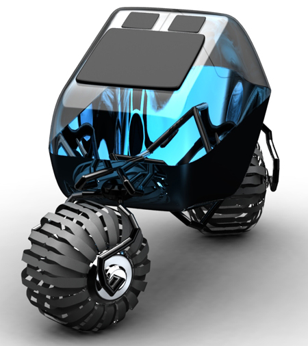 Dual Pod Transport Is A Two Wheeler With Off-Road Capabilities
