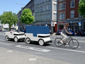 Ducktrain Electric, Automated Logistic Vehicle for Future Urban Last-Mile Delivery