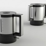 Due Kettle Features Twin Handles for Easy Grip