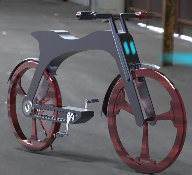 E-centric Bicycle Design by Manpreet Bhattee